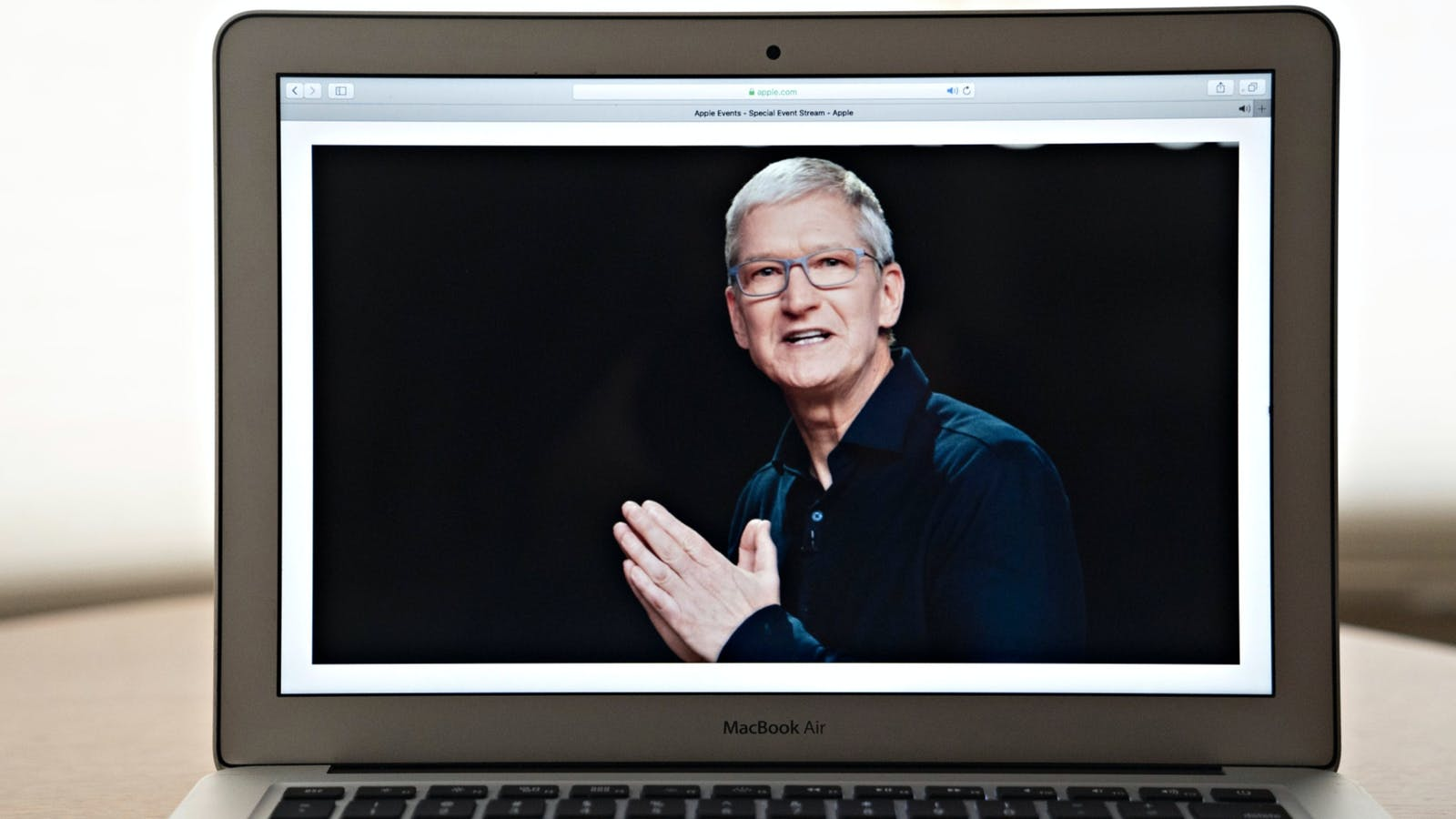Apple CEO Tim Cook on the company's online-only Worldwide Developers Conference on Monday. Photo by Bloomberg