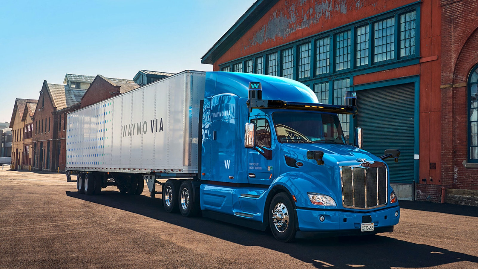 A recent image of a Waymo Via, a self-driving truck protoype. Photo by Waymo