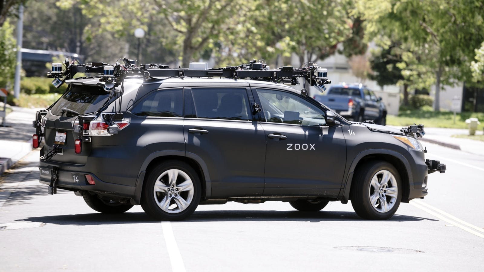 A Zoox self-driving vehicle last month. Photo by Bloomberg