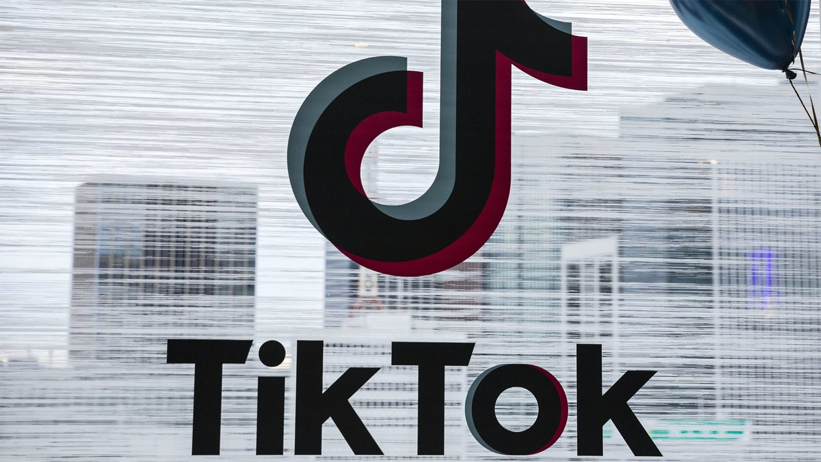 TikTok's logo is displayed at the TikTok Creator's Lab 2019 in Tokyo. Photo by Bloomberg