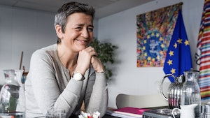 Europe's competition commissioner Margrethe Vestager. Photo by Bloomberg