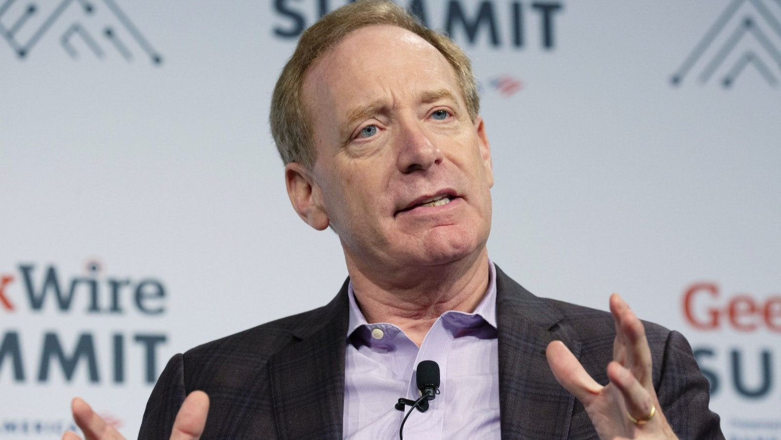 Microsoft President Brad Smith. Photo by Bloomberg
