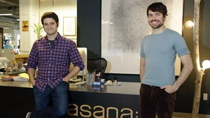 Asana co founders Dustin Moskovitz and Justin Rosenstein. Photo by AP