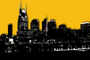 Nashville skyline. Illustration by Mike Sullivan