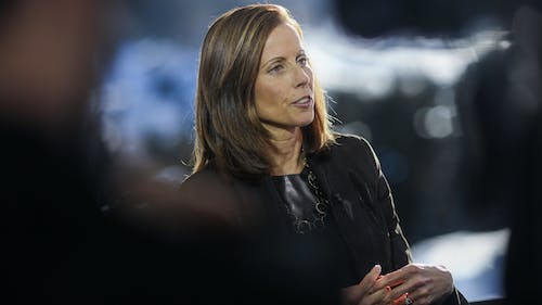 Nasdaq CEO Adena Friedman. Photo by Bloomberg.