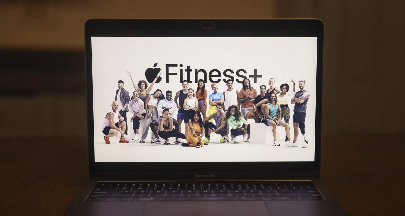 A graphic for Apple's new Fitness+ service unveiled today. Photo by Bloomberg.