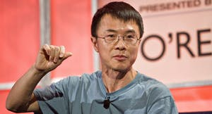 Qi Lu, executive vice president of Microsoft's applications and services group. Photo by Bloomberg.