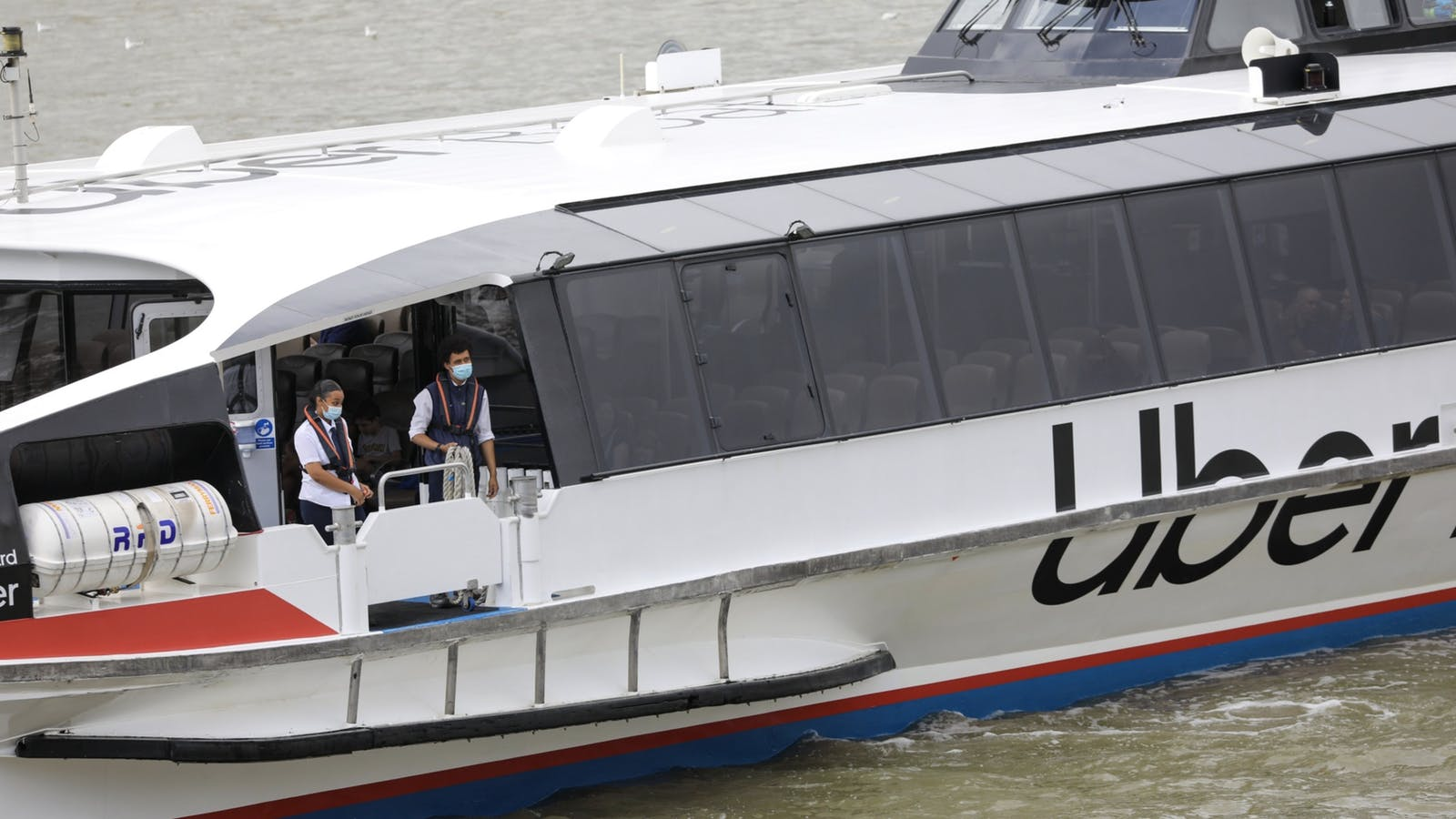 Uber started a boat service in London. Photo by Bloomberg