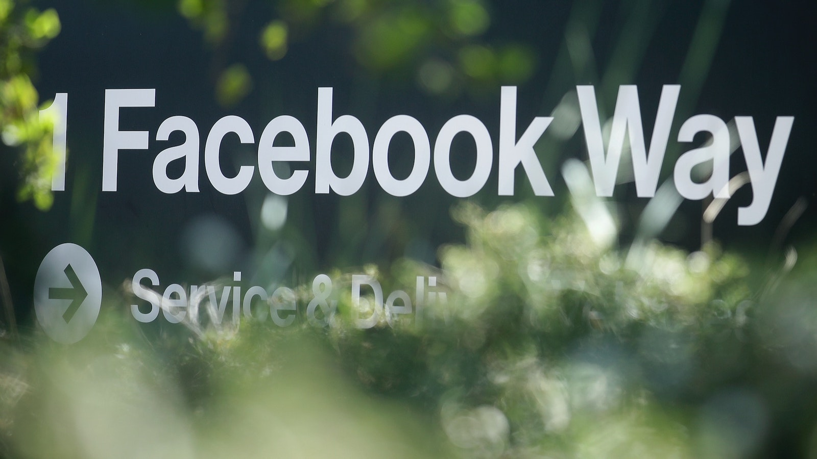 An address sign for Facebook Way is shown in Menlo Park, Calif.  Photo: Associated Press