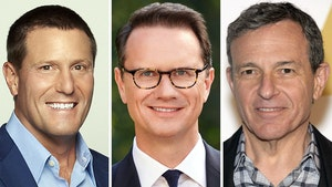 From left: Kevin Mayer, Peter Rice and Bob Iger. Photos by Disney; AP