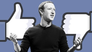 Mark Zuckerberg. Photo by Bloomberg; photo illustration by Mike Sullivan