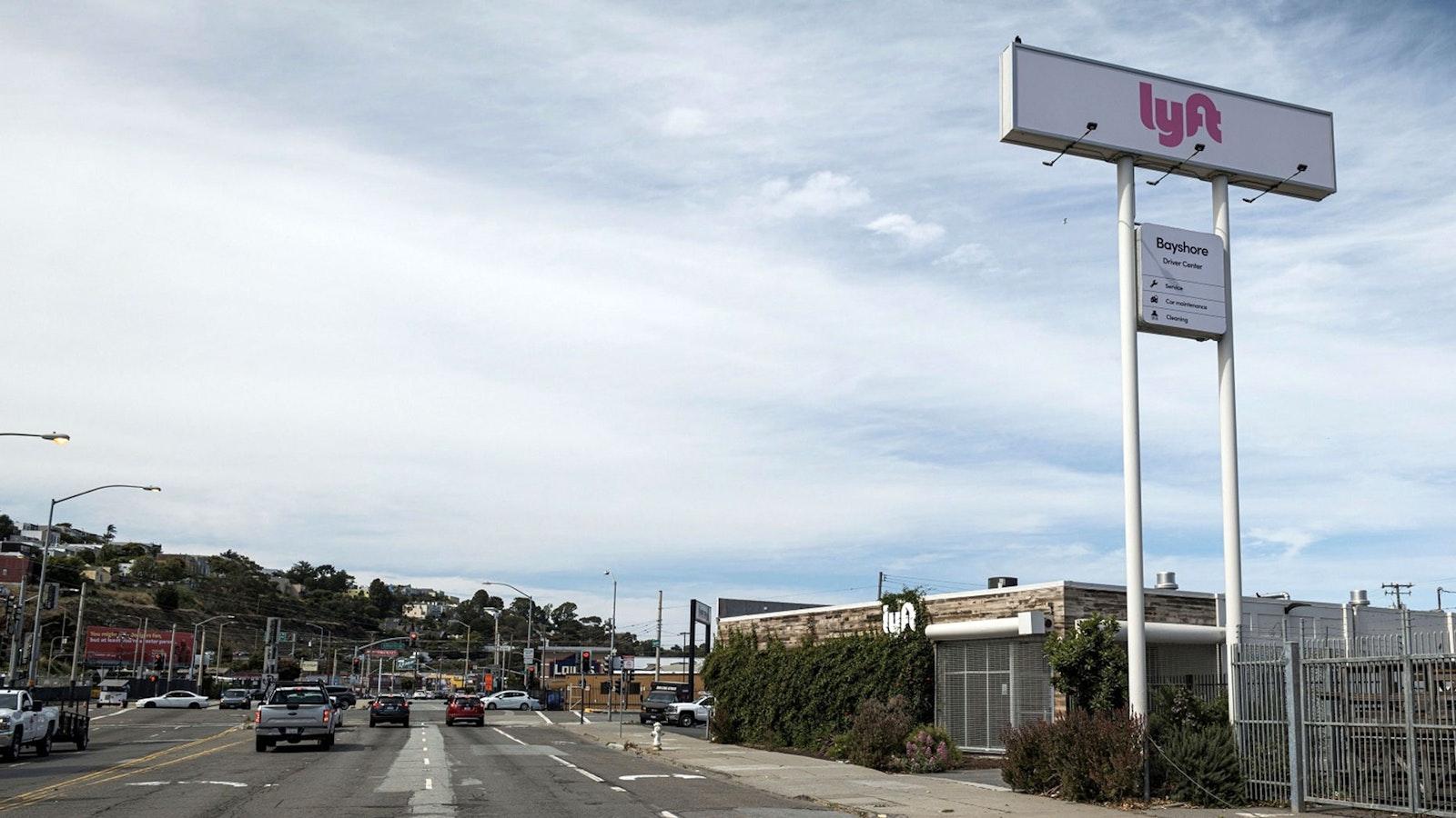 Lyft's San Francisco driver hub. Photo by Bloomberg.