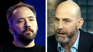 Drew Houston (left), CEO of Dropbox, and Josh Silverman, CEO of Etsy. Photos by Bloomberg