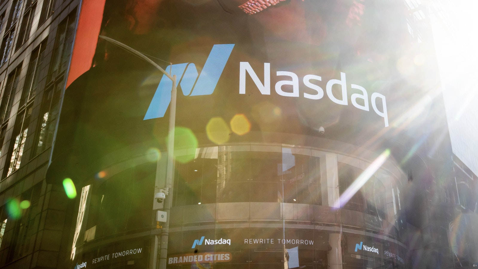 The Nasdaq's New York office. Photo by Bloomberg