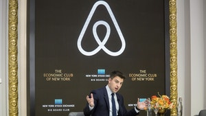 Airbnb CEO Brian Chesky. Photo by Bloomberg