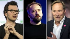 Brex co-CEO Henrique Dubugras, Dropbox CEO Drew Houston and Splunk CEO Doug Merritt. Photos: Bloomberg