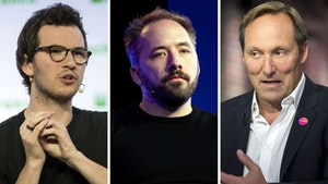 Brex co-CEO Henrique Dubugras, Dropbox CEO Drew Houston and Splunk CEO Doug Merritt. Photos: Bloomberg