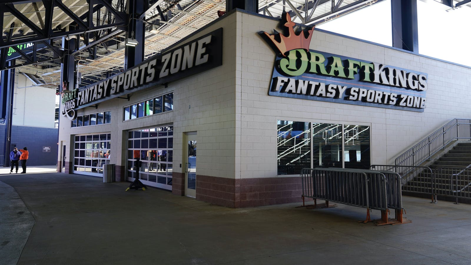 A DraftKings kiosk at Gillette stadium  in Massachusetts. Photo by AP
