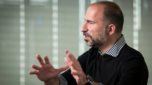 Uber CEO Dara Khosrowshahi. Photo by Bloomberg