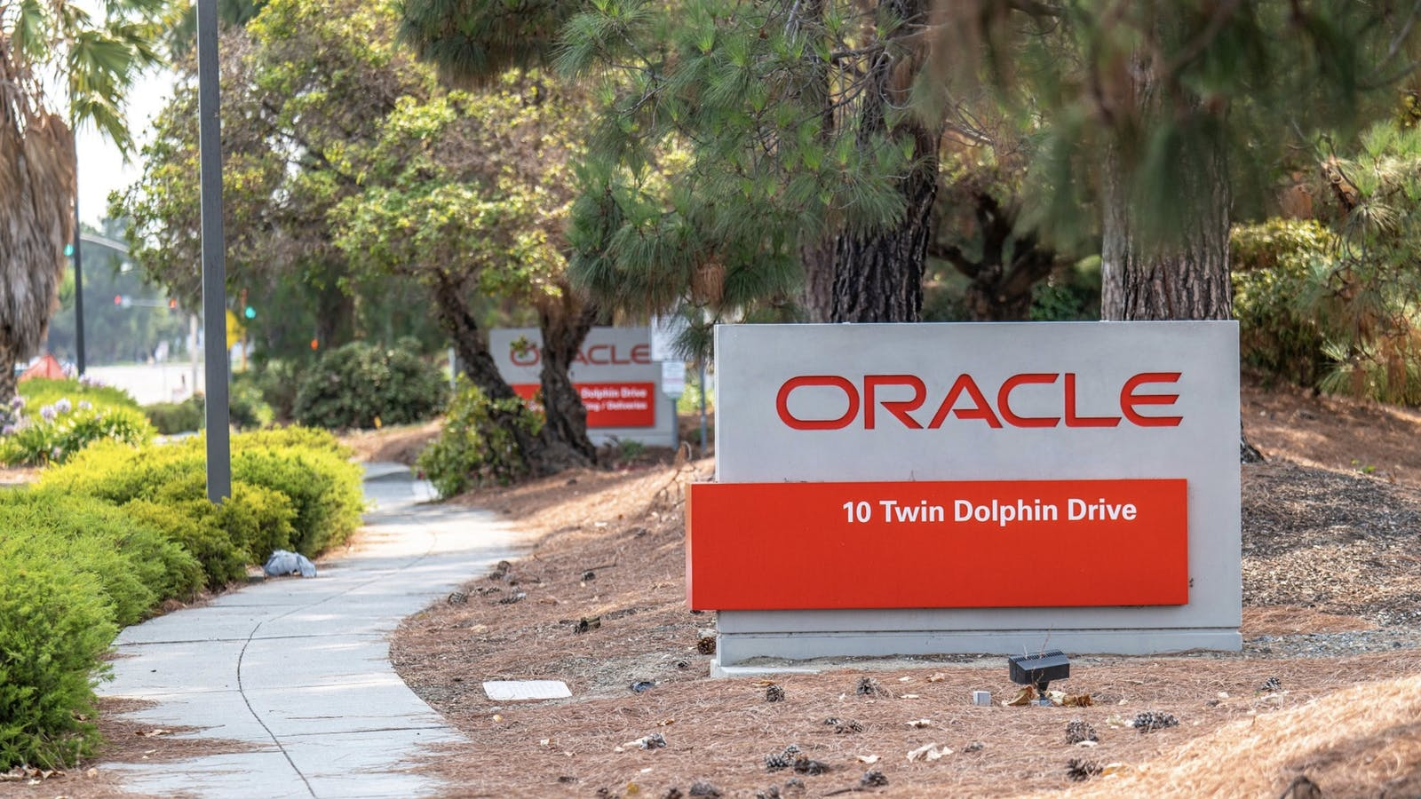 Oracle's office in Redwood City, Calif. Photo by Bloomberg