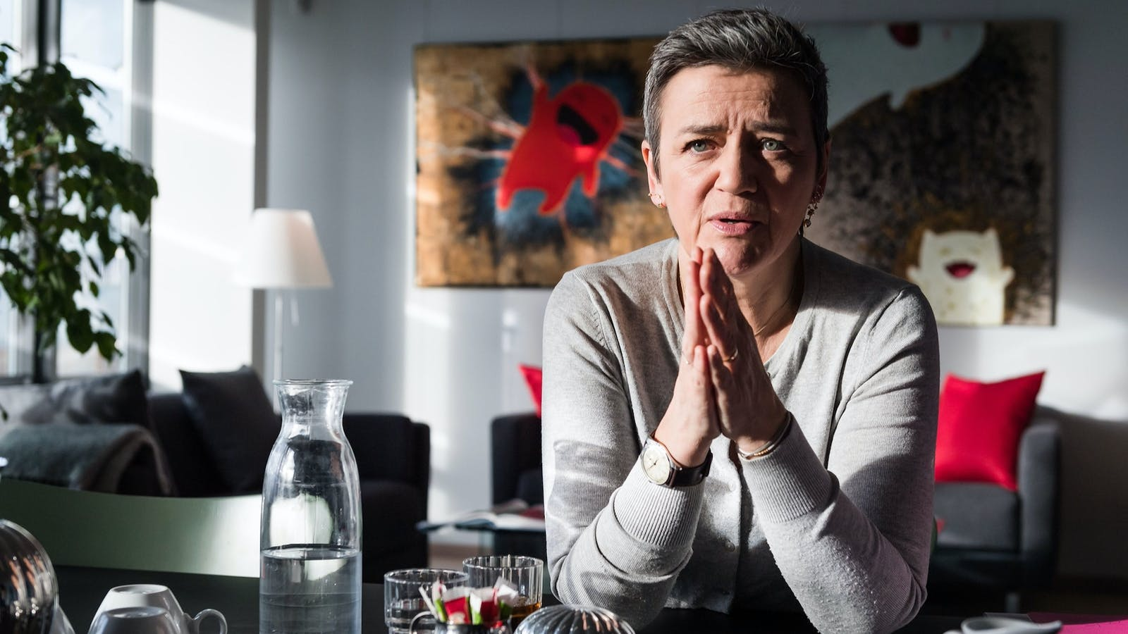 Margrethe Vestager, competition commissioner of the European Commission, in her office in Brussels in February. Photo by Bloomberg