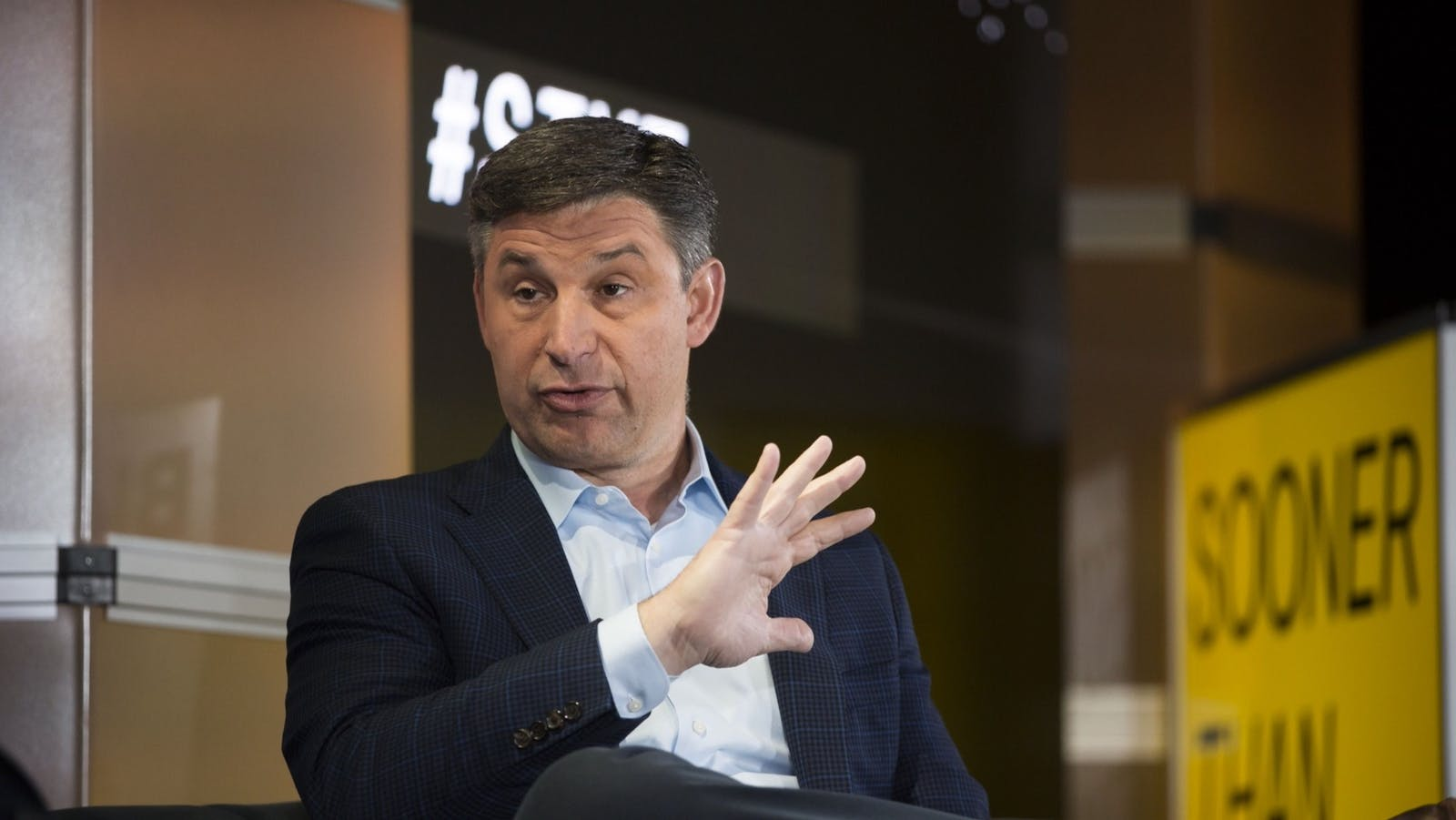Social Finance CEO Anthony Noto, shown in 2018. Photo: Bloomberg