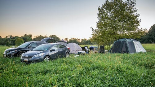 Hipcamp campers at a  site in Maryland last year. Photo: AP