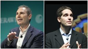 AWS CEO Andy Jassy and WarnerMedia CEO Jason Kilar. Photos by Bloomberg