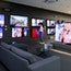 Samsung QLED televisions on display at the company's Digital Plaza store in Seoul. Photo by Bloomberg.