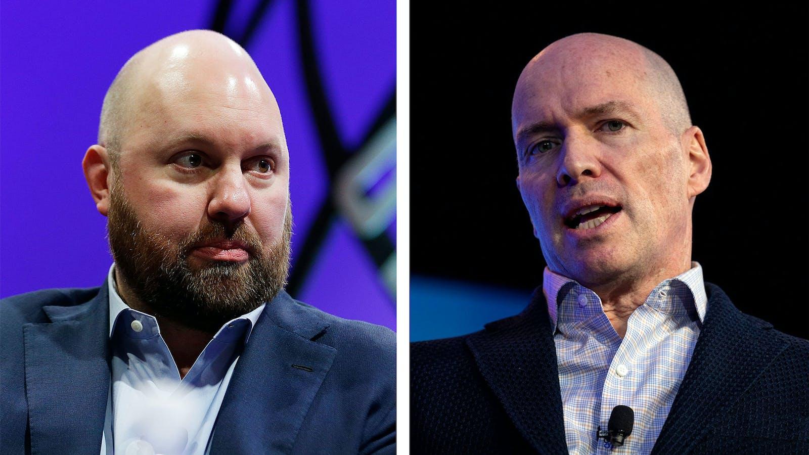 Andreessen Horowitz co-founders Marc Andreessen (left) and Ben Horowitz. Photo by Bloomberg.