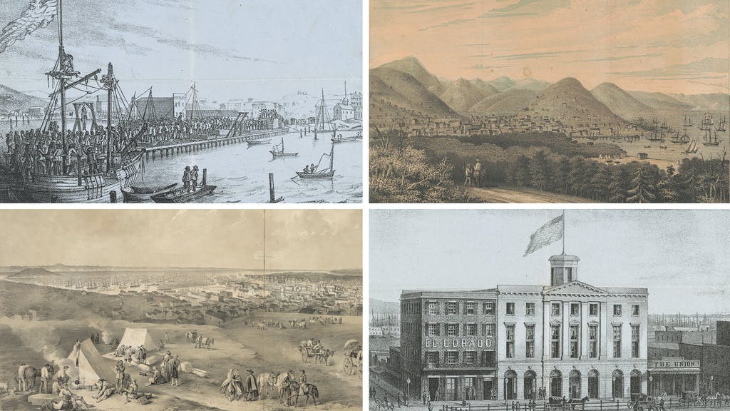 San Francisco in the 1850s. Images courtesy of the Library of Congress