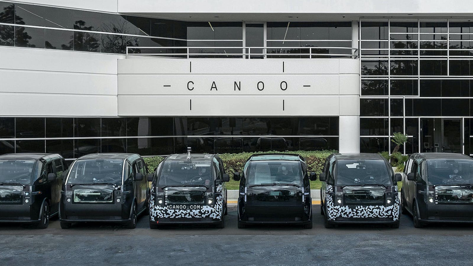 Canoo's beta vehicles. Photo courtesy of Canoo
