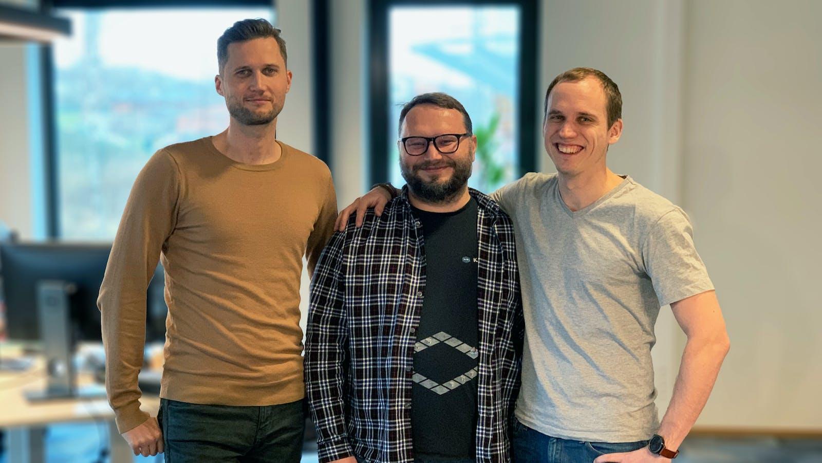 Katana's Kristjan Vilosius (from left to right), Priit Kaasik and Hannes Kert. Photo provided by Katana