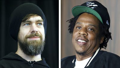 Jack Dorsey (left) and Jay Z. Photos by Bloomberg; AP