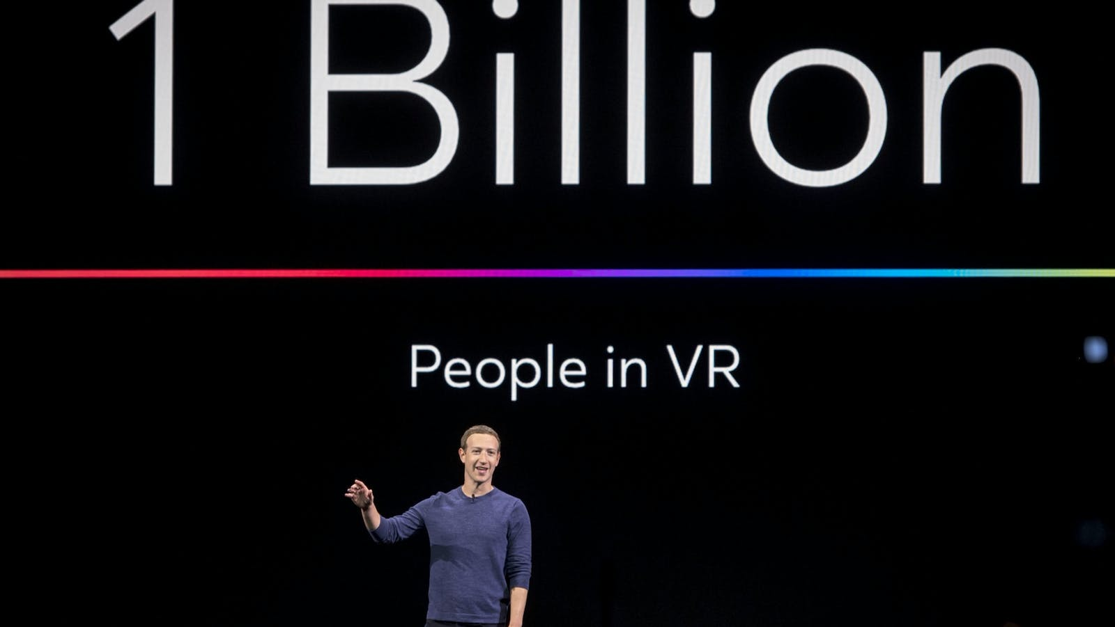 Facebook CEO Mark Zuckerberg at an Oculus event in 2018. Photo by Bloomberg
