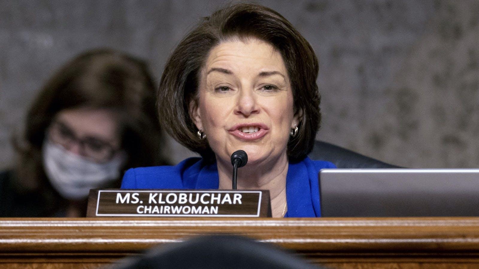 Democratic Senator Amy Klobuchar. Photo by Bloomberg
