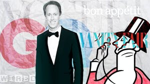 Conde CEO Roger Lynch. Photo by Bloomberg. Illustration by Mike Sullivan