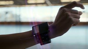 A prototype of Facebook's neural interface wristband. Image: Facebook