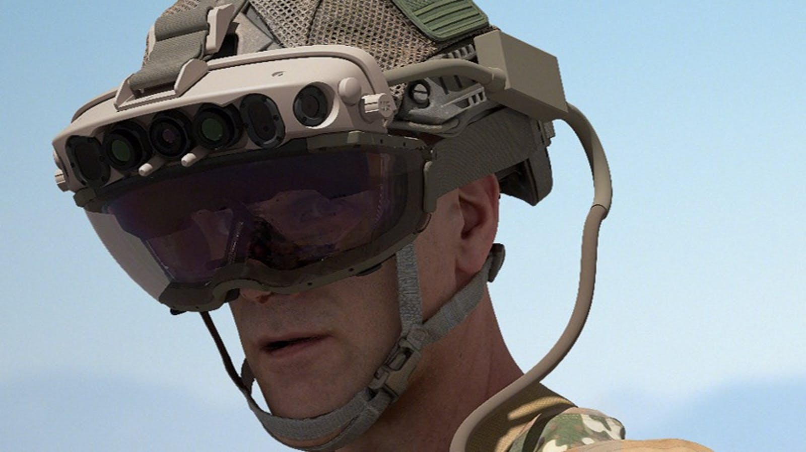 Microsoft's HoloLens-based headset for the military. Image: Microsoft