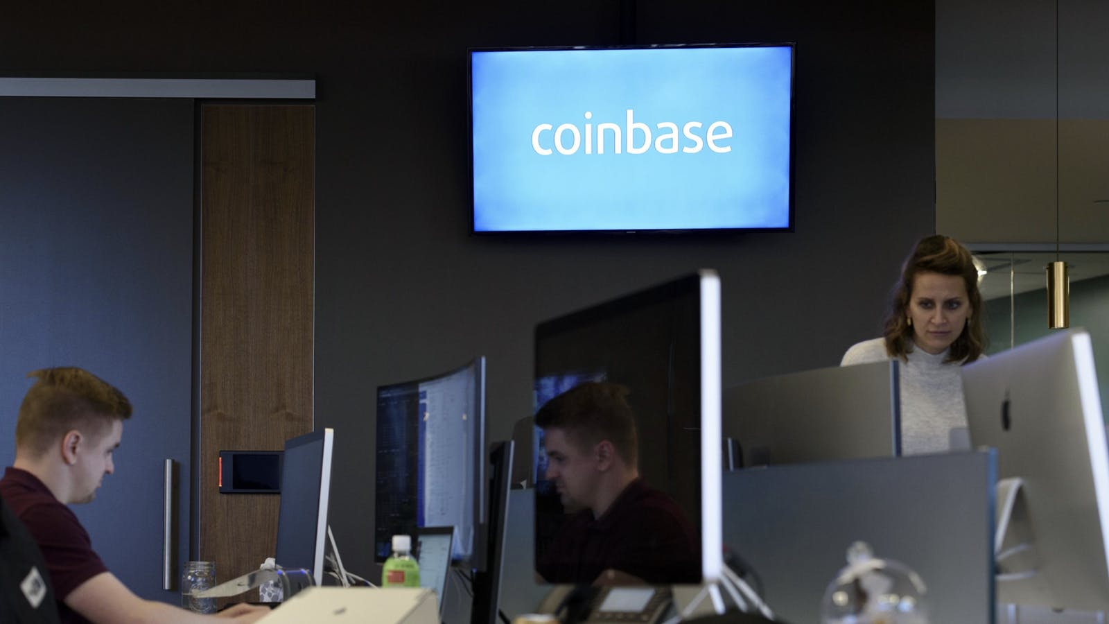 Inside Coinbase's San Francisco office. Photo by Bloomberg