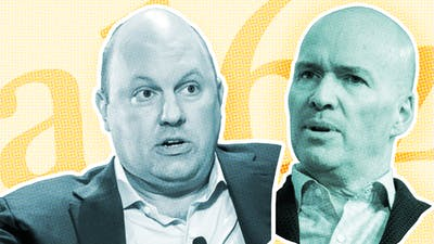 Marc Andreessen and Ben Horowitz. Art by Mike Sullivan.