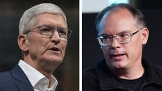 Tim Cook, left, and Tim Sweeney. Photos by Bloomberg; Getty Images