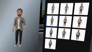 The customization interface for Oculus' new avatars, showcasing several body shape options. Image: Facebook