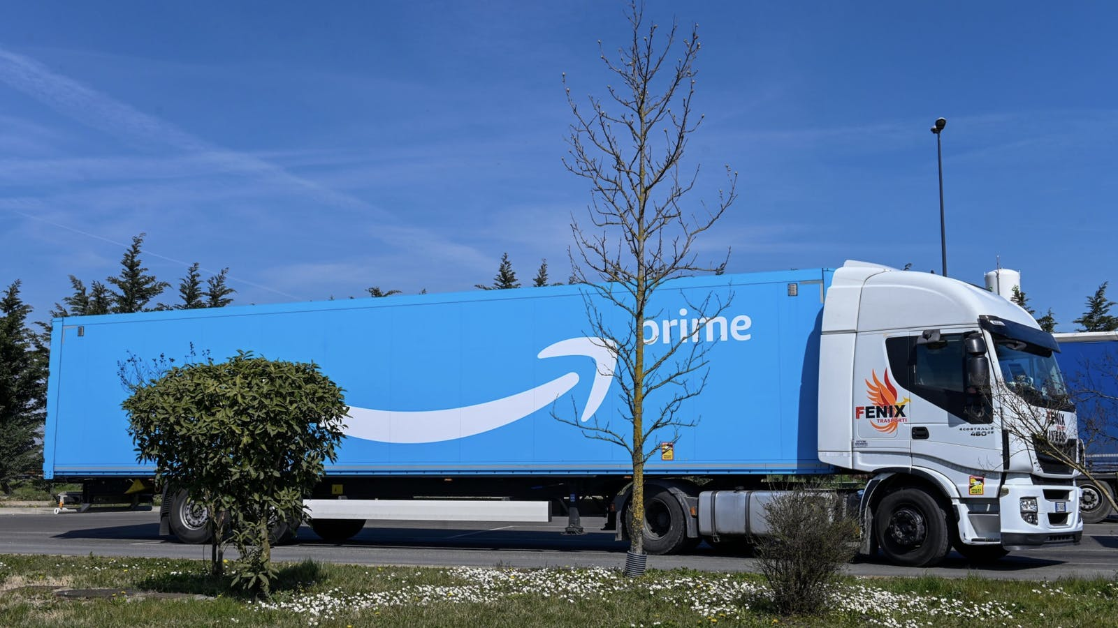 An Amazon truck. Photo by Bloomberg