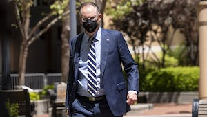 Epic CEO Tim Sweeney returned to the U.S. district court after a break in Oakland, Calif., on Monday. Photo: Bloomberg