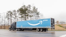 A truck with an Amazon Prime logo in Alabama earlier this year. Photo by Bloomberg