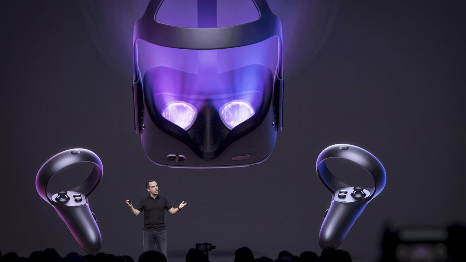Hugo Barra at an Oculus event in 2018. Photo by Bloomberg