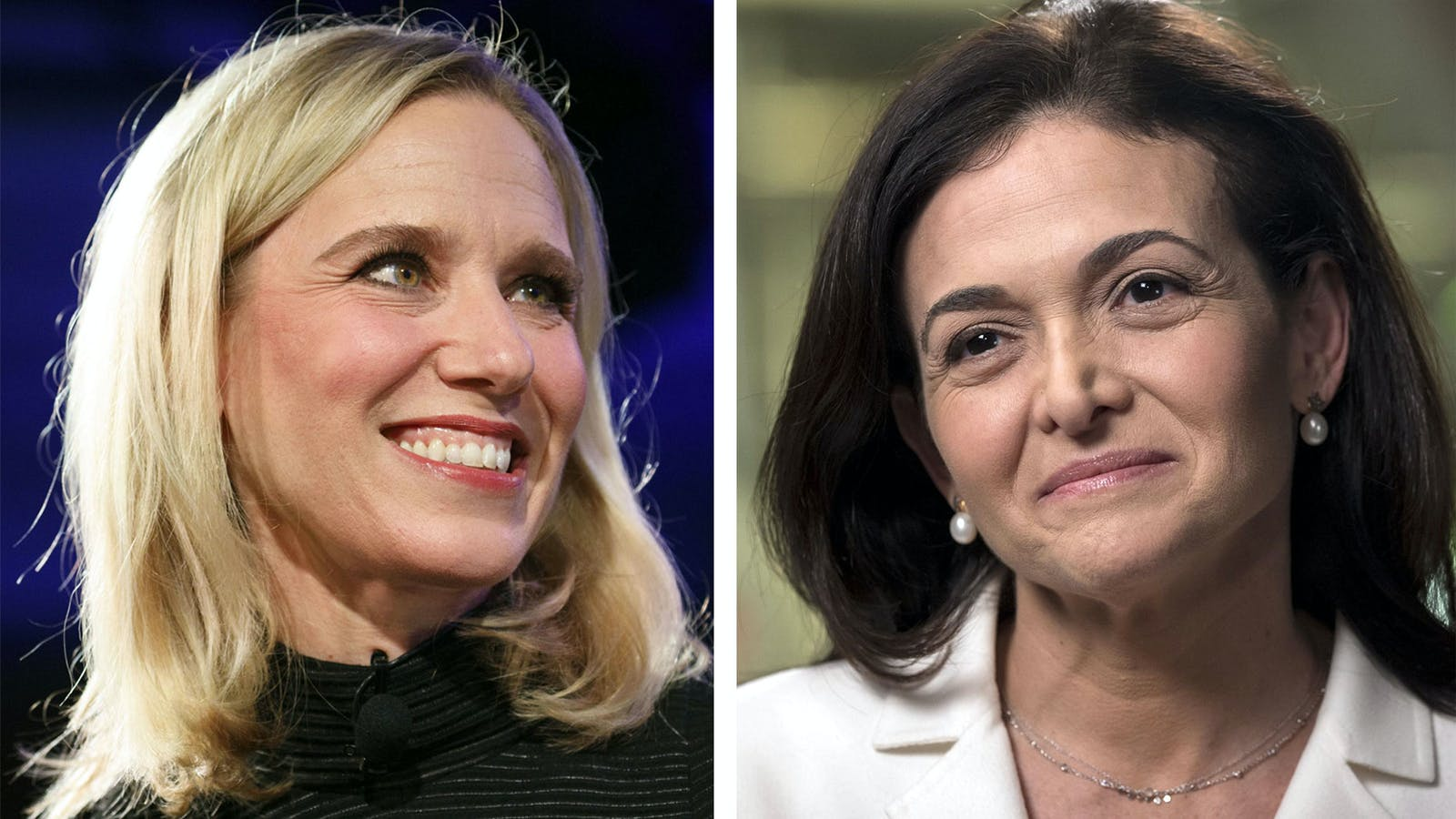 Marne Levine, left, and Sheryl Sandberg. Photos by Bloomberg