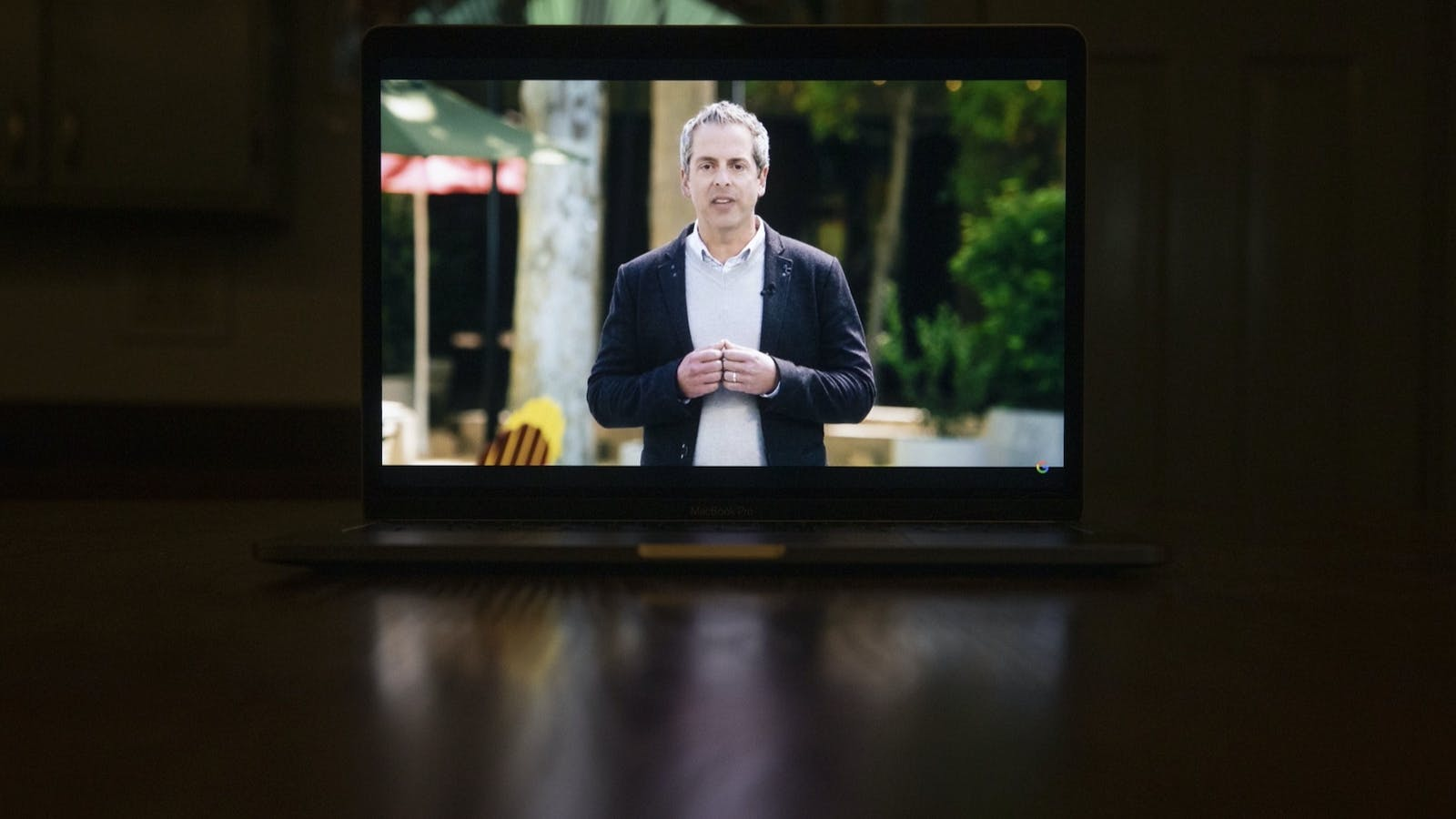 Javier Soltero, general manager of Google Workspace, speaks during an online-only Google developer conference in May. Photo by Bloomberg