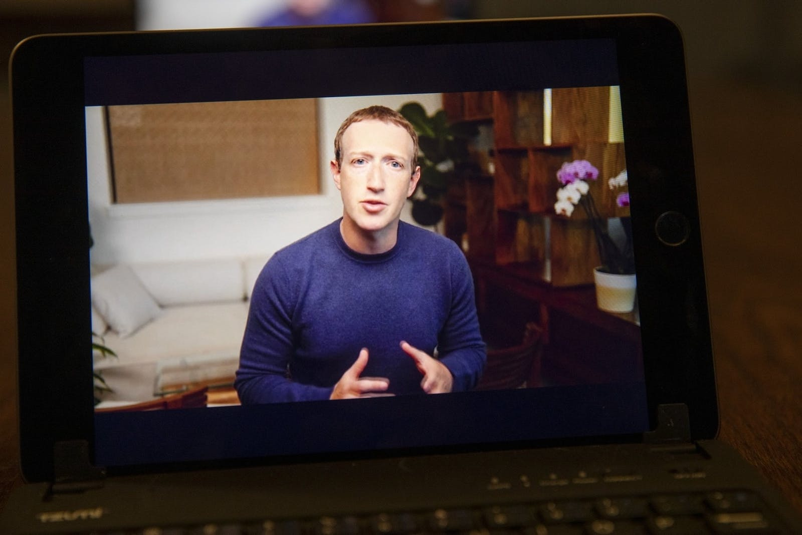 Facebook CEO Mark Zuckerberg speaks during the virtual F8 Developers Conference on June 2, 2021. Photo: Bloomberg